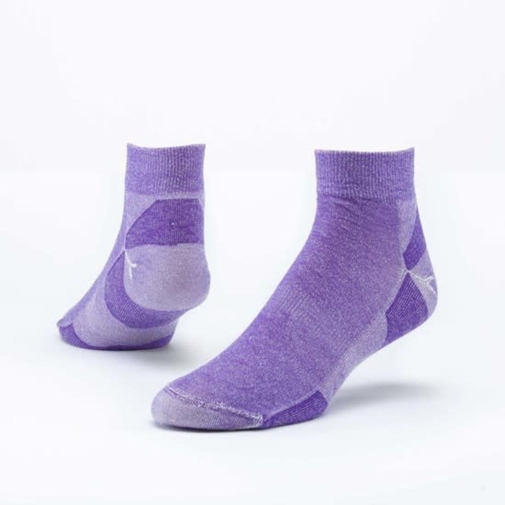 Maggie's Organics Purple Urban Hiker Ankle Socks
