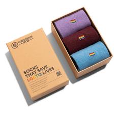 Conscious Step Solid Socks that Save LGBTQ Lives Gift Box