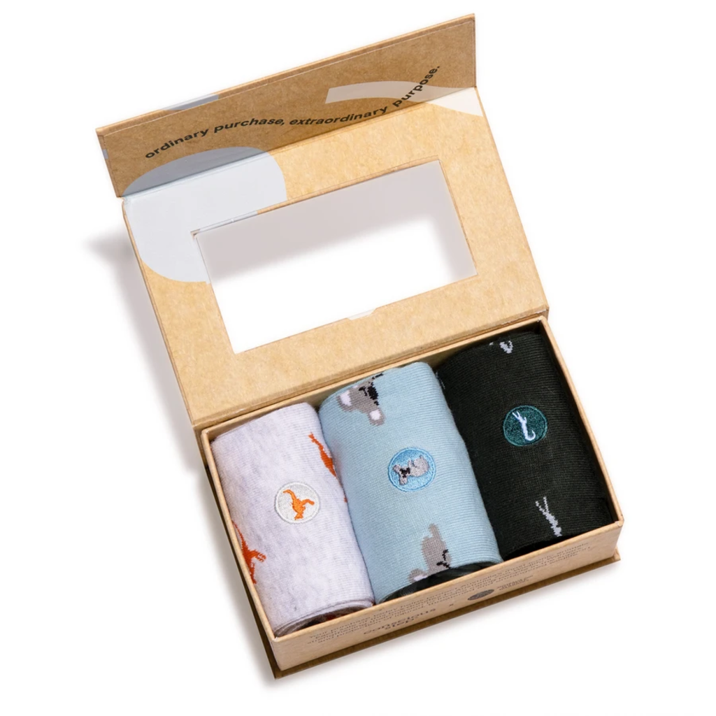 Conscious Step Socks that Protect Australian Animals Gift Box