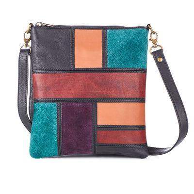 Serrv Avani Leather Crossbody Bag