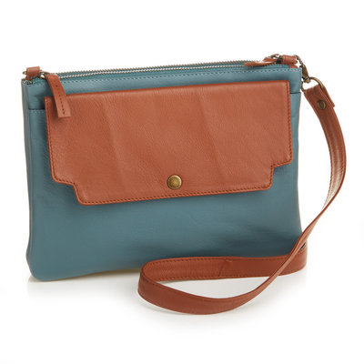 Serrv Two-Tone Leather Crossbody Bag