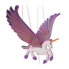 Tulia's Artisan Gallery Flying Mobile: Purple Unicorn