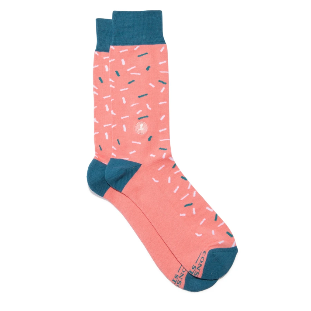 Conscious Step Socks that Find a Cure Confetti