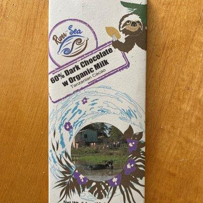 River-Sea Chocolate Tanzanian 60% Dark Chocolate with Organic Milk Bar