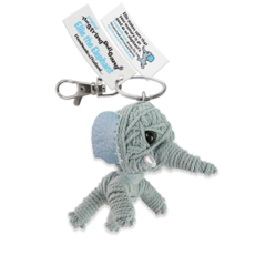 Kamibashi Ellie the Elephant String Doll Keychain