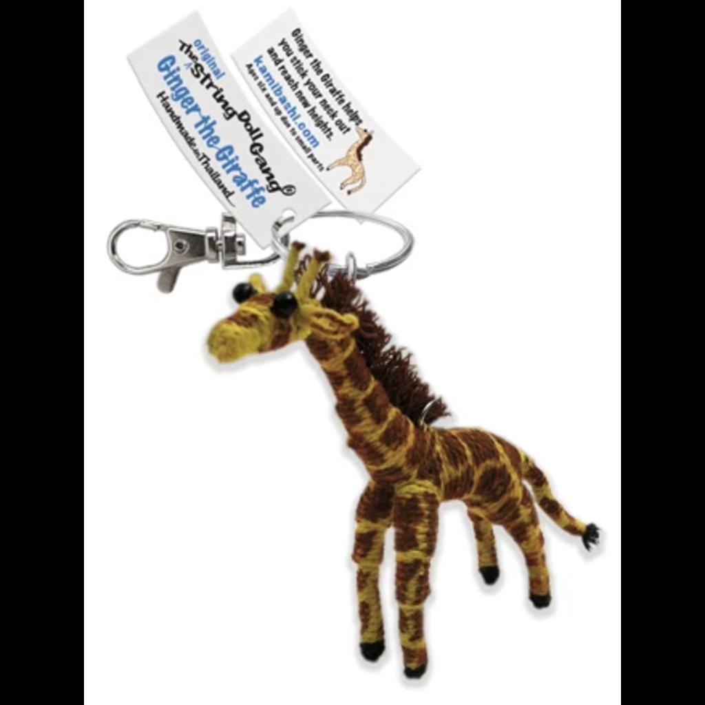 Kamibashi Ginger the Giraffe String Doll Keychain