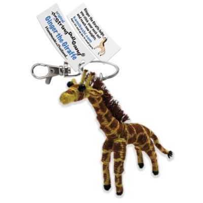 Kamibashi Ginger the Giraffe String Doll Keychain