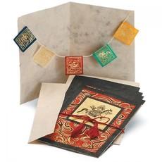 DZI Handmade Windhorse Prayer Flag Greeting Card