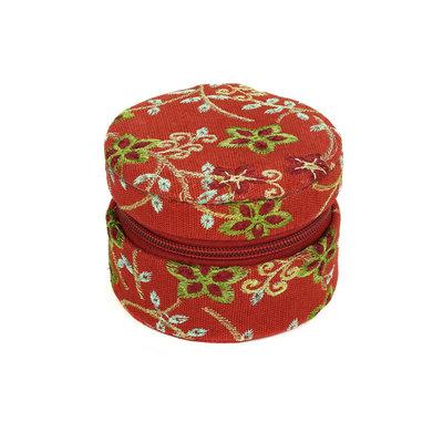 Minga Imports Small Zippered Jewelry Box Red