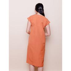 Mata Traders Darjeeling Pocket Dress Amber Linen