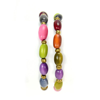 Minga Imports Sofia Tagua Bracelet: Berry