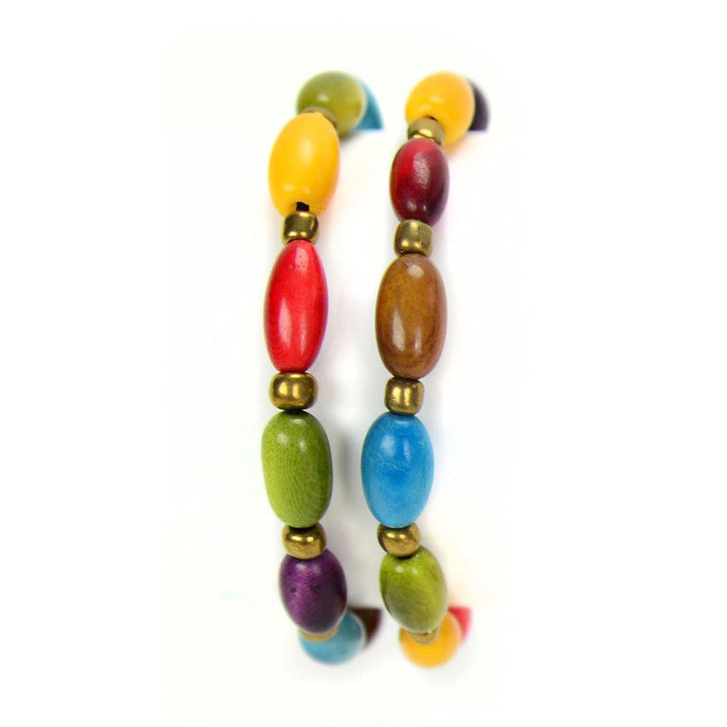 Minga Imports Sofia Tagua Bracelet: Multi
