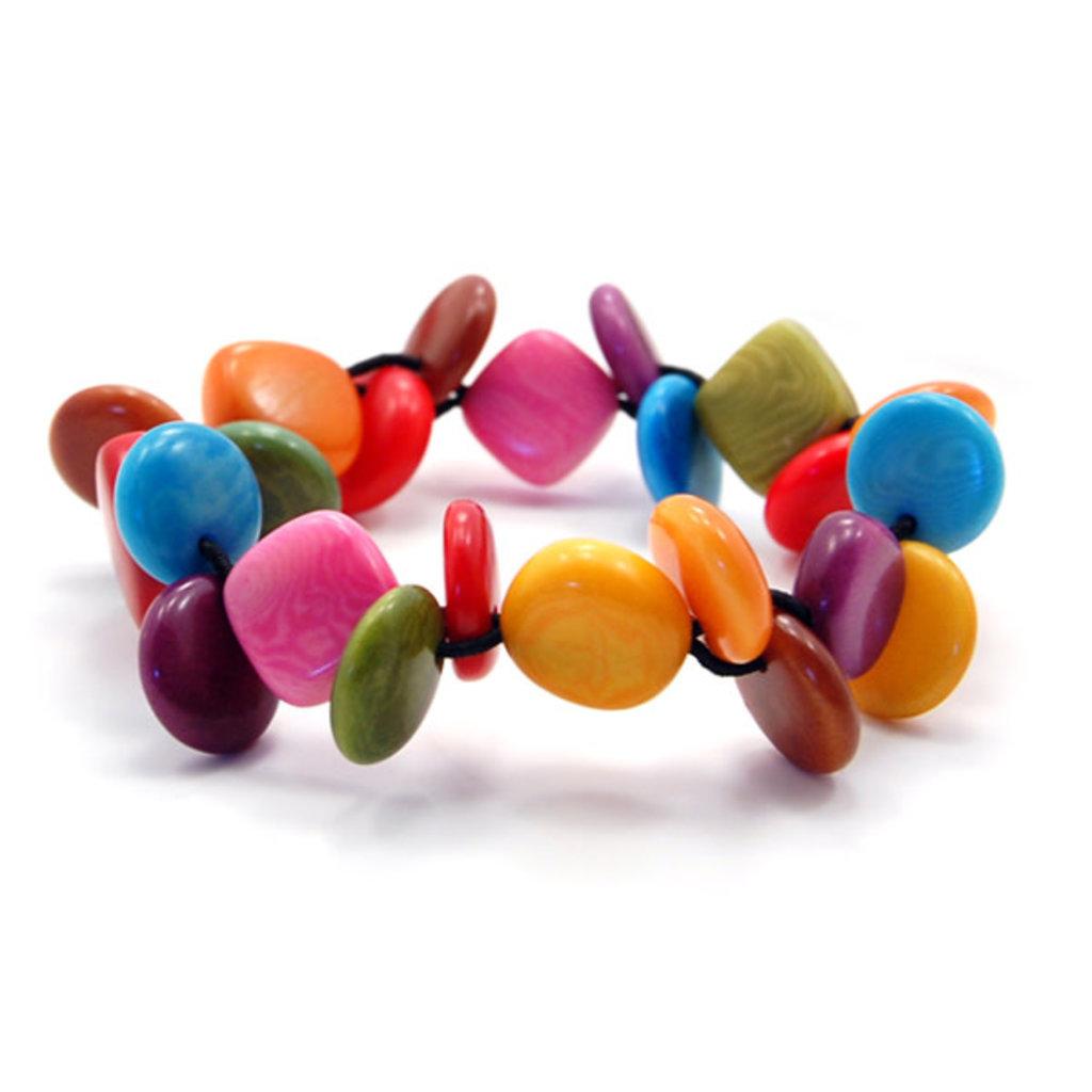 Minga Imports Chiclet Multi Tagua Bracelet