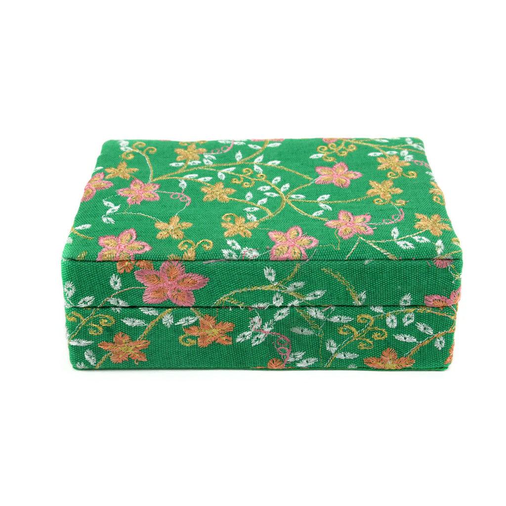 Minga Imports Luxury Jewelry Box Green