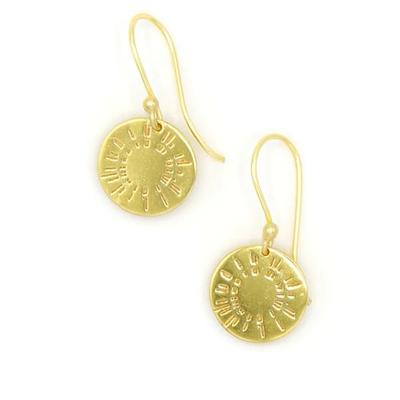 Fair Anita Burst Brass Earrings
