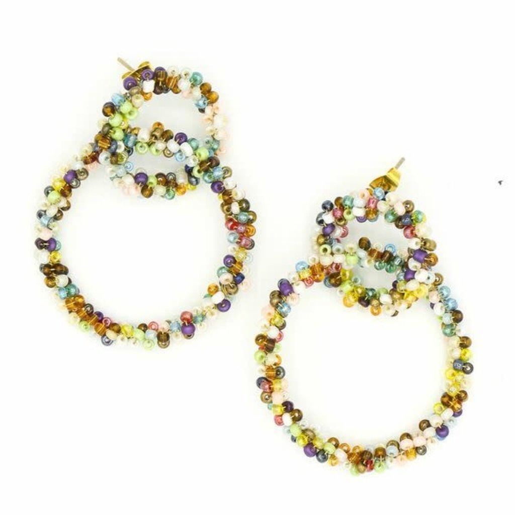Fair Anita Loop De Loop Beaded Earrings