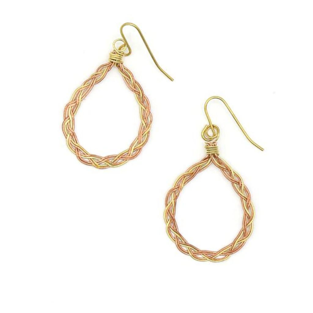 Fair Anita Braided Teardrop Earrings