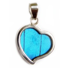 Silver Tree Designs Butterfly Wing Heart Pendant - Assorted