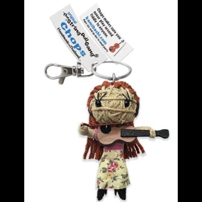 Kamibashi Chops Long Hair String Doll Keychain