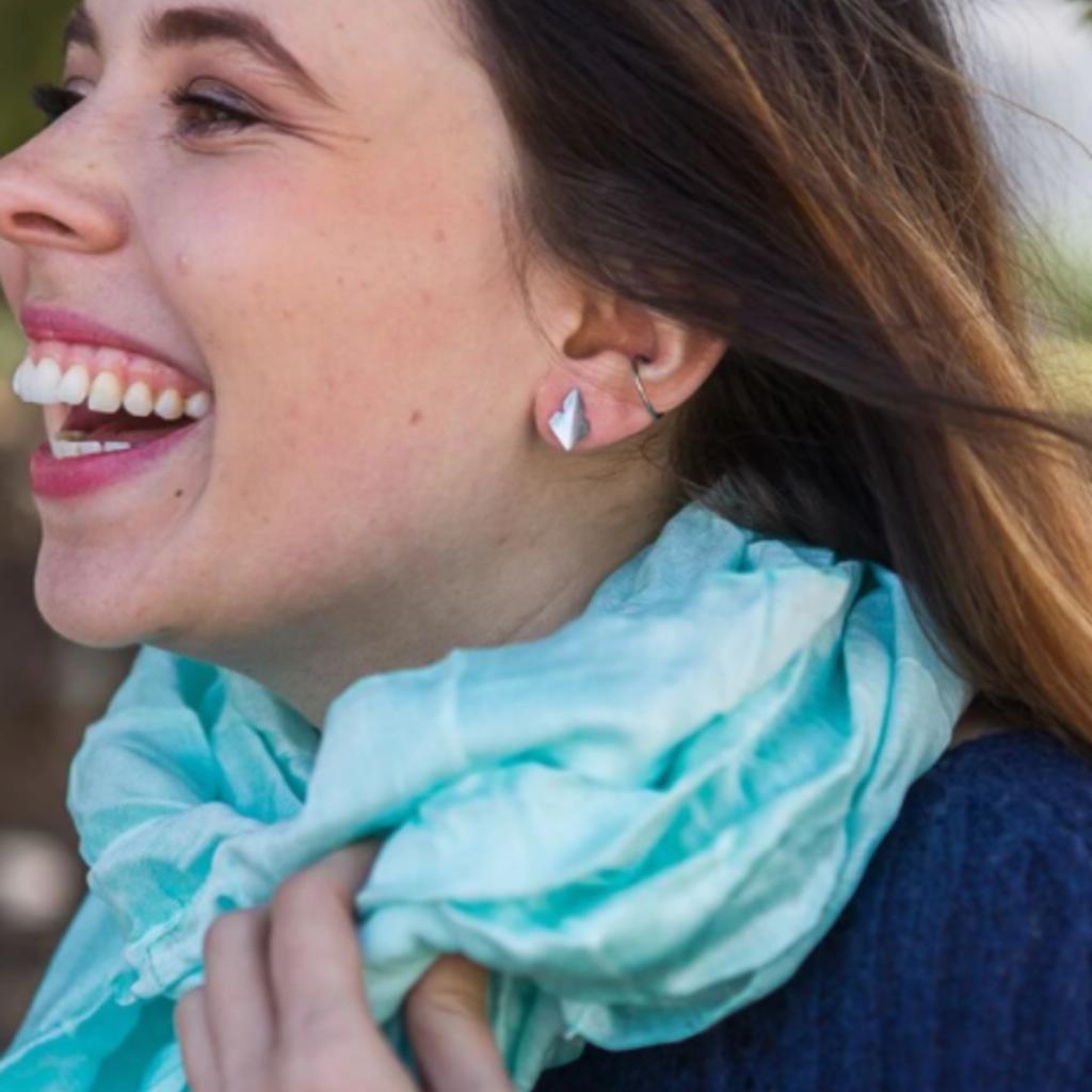 Fair Anita Arrowhead Recycled Sterling Stud Earrings