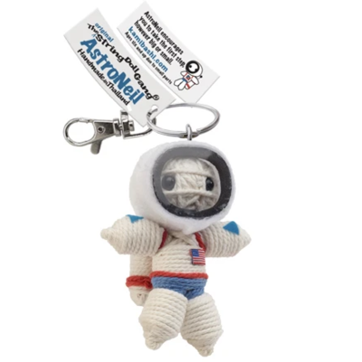 Kamibashi Astronaut White String Doll Keychain