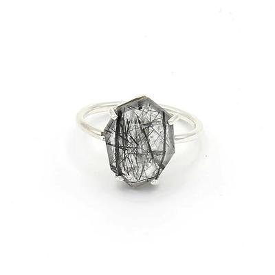 Fair Anita Organic Cut Rutile Quartz Sterling Ring