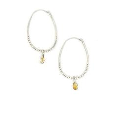 Fair Anita Sunshine Hoop Citrine Earrings