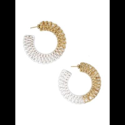 Fair Anita Woven Hoop Metallic Earrings