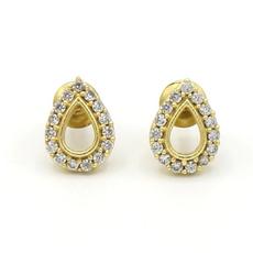 Fair Anita Sparkle Teardrop Stud Earrings