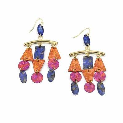 Fair Anita Circus Painted Chandelier Earrings