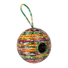 Ten Thousand Villages Round Recycled Plastic Birdhouse
