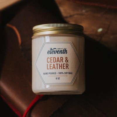 Eleventh Candle Co Cedar & Leather Candle 8oz