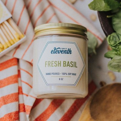 Eleventh Candle Co Fresh Basil Candle 8oz