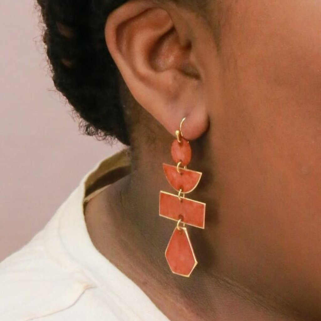 Fair Anita Pagoda Painted Earrings