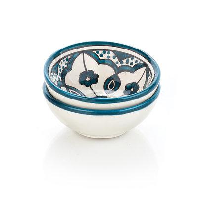 Serrv Teal Jasmine Dipping Bowl