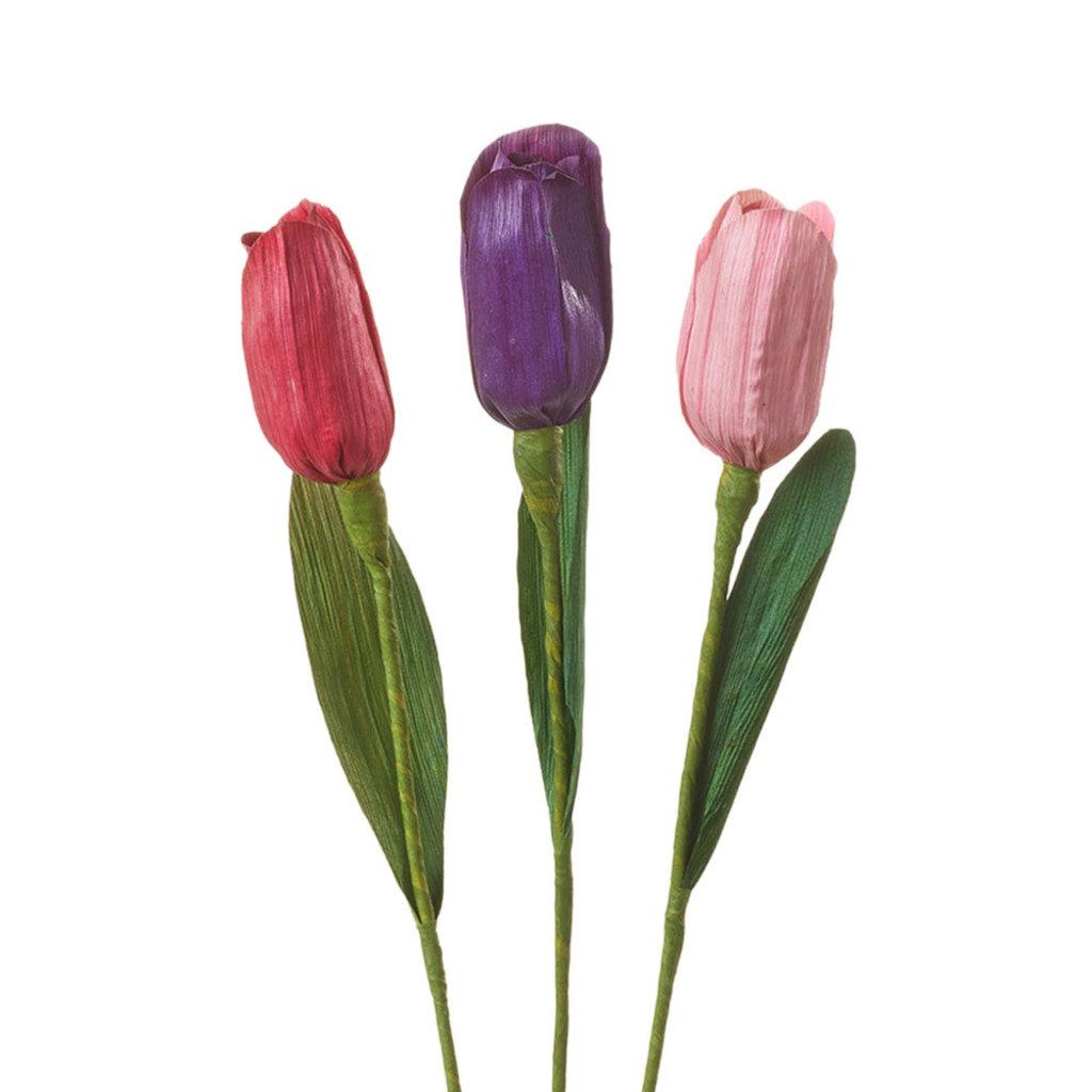 Serrv Cornhusk Tulip Flower