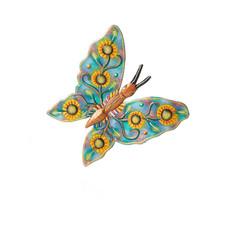 Serrv Sunflower Butterfly Metal Wall Art