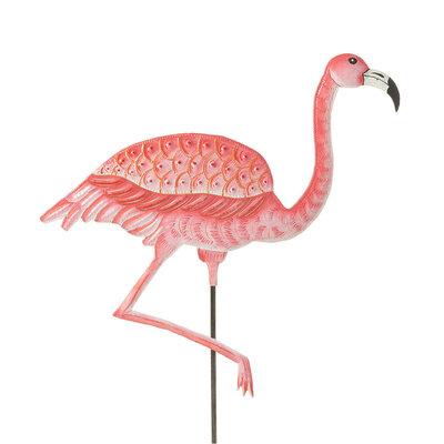 Serrv Pink Flamingo Garden Stake