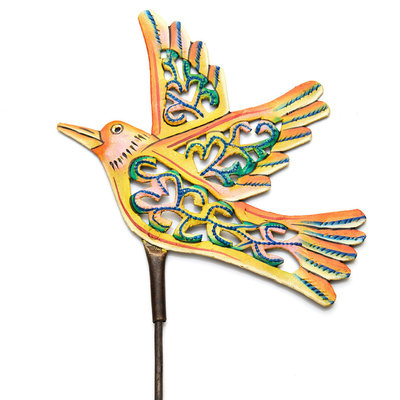 Serrv Yellow Bird Garden Stake