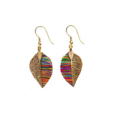 Serrv Sunara Leaf Earrings