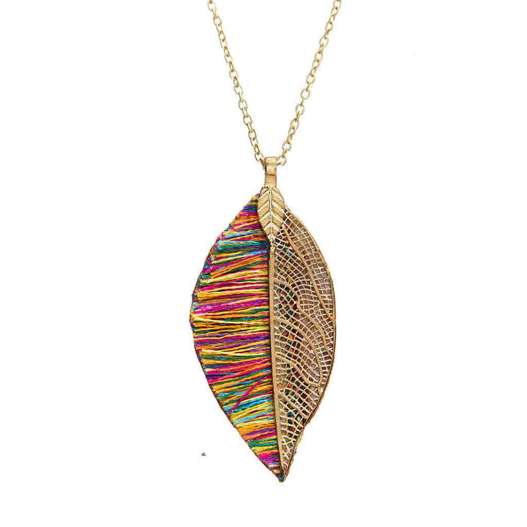 Serrv Sunara Leaf Necklace
