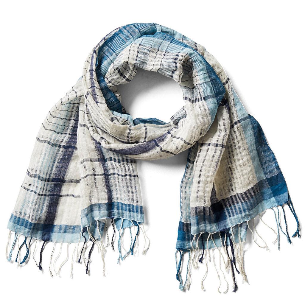 Serrv Kohara Plaidweave Cotton Scarf