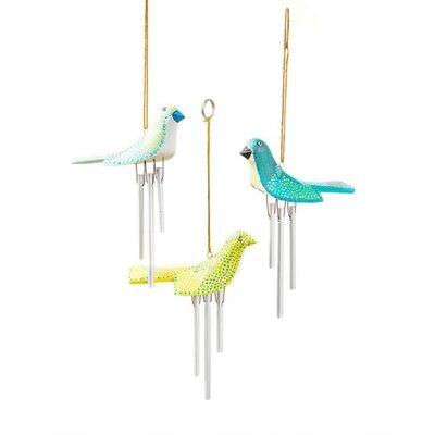 Serrv Birdie Wind Chime: Mint