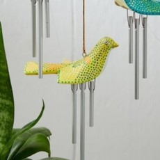 Serrv Birdie Wind Chime: Yellow