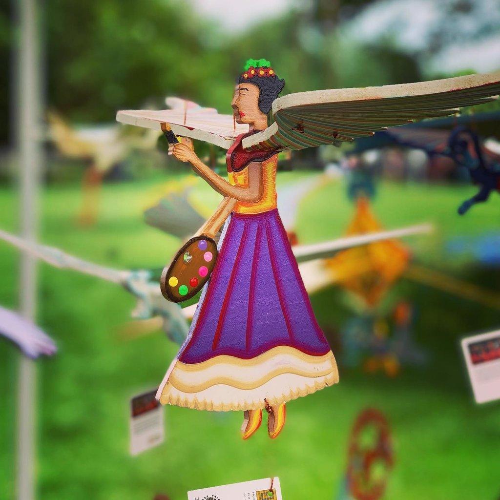 Tulia's Artisan Gallery Flying Mobile: Frida Kahlo