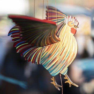 Tulia's Artisan Gallery Flying Mobile: Rooster