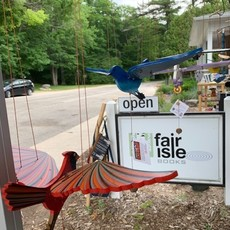 Tulia's Artisan Gallery Flying Mobile: Blue Hummingbird