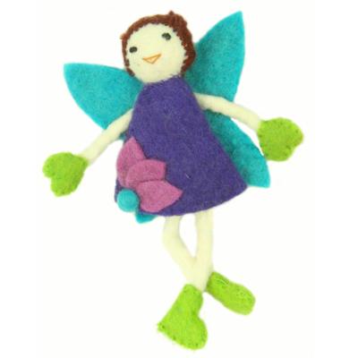 Global Crafts Brown Hair Fairy Felt Doll