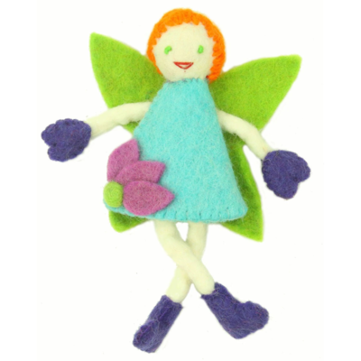 Global Crafts Felt Tooth Fairy Doll: Red Hair