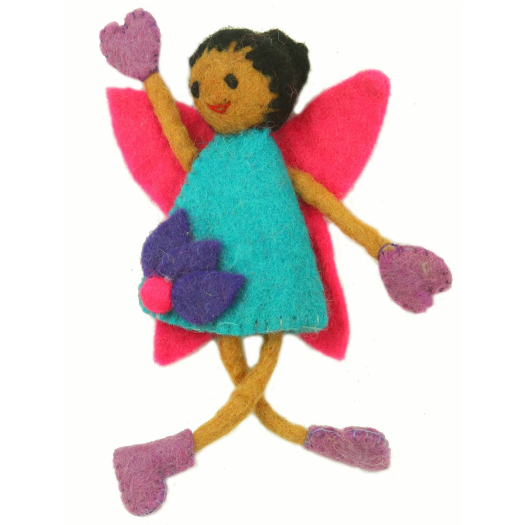 Global Crafts Felt Tooth Fairy Doll: Black Hair